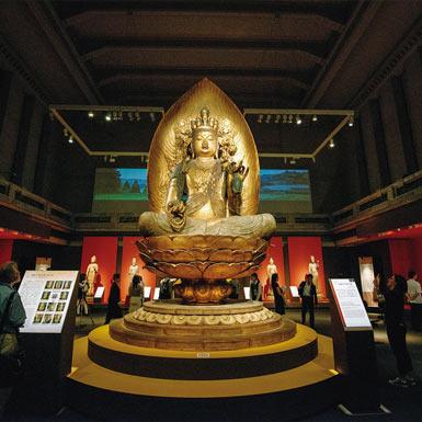櫟野寺の東京国立博物館での重文の特別展の様子
